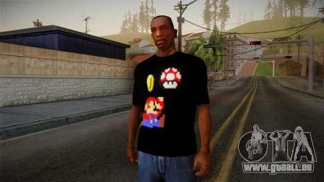 Mario Bros T-Shirt pour GTA San Andreas
