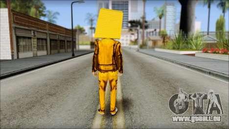 Robot Head LMFAO pour GTA San Andreas deuxième écran