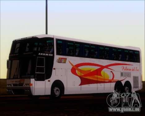 Busscar Jum Buss 400 Volvo B10R Pullman Del Sur für GTA San Andreas Rückansicht