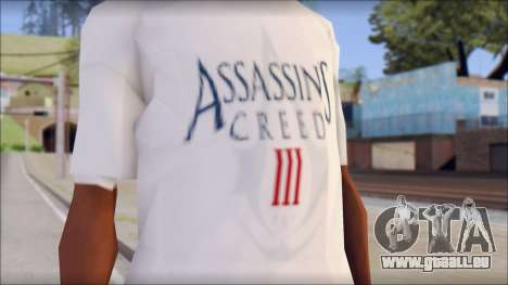 Assassins Creed 3 Fan T-Shirt pour GTA San Andreas troisième écran
