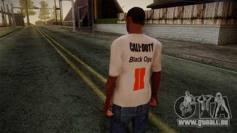 COD Black Ops II White Fan T-Shirt für GTA San Andreas zweiten Screenshot