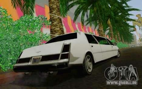 Washington Limousine für GTA San Andreas zurück linke Ansicht