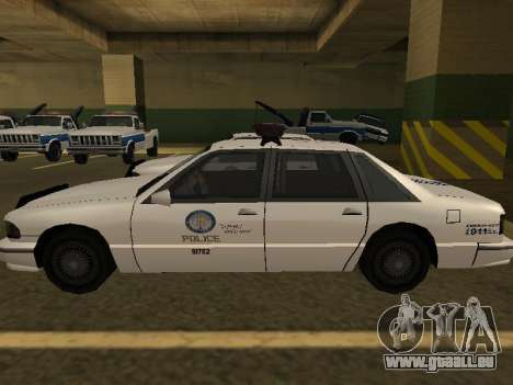 Police Original Cruiser v.4 pour GTA San Andreas vue intérieure