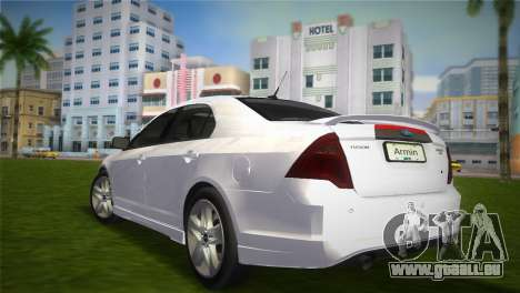 Ford Fusion 2009 für GTA Vice City linke Ansicht