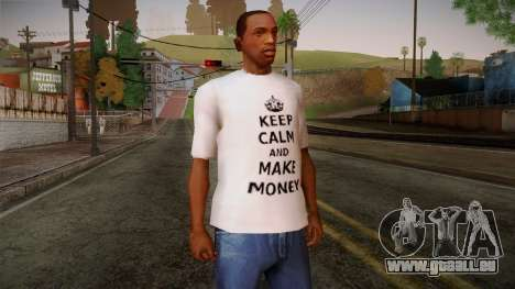 Fler Keep Calm And Make Money Shirt für GTA San Andreas