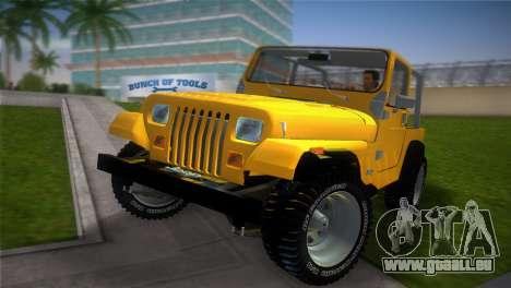 Jeep Wrangler 1986 v4.0 Fury für GTA Vice City