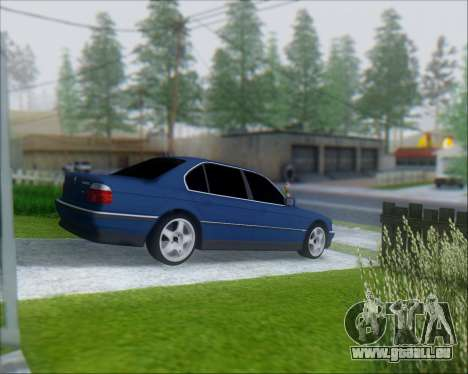 BMW 7 E38 für GTA San Andreas zurück linke Ansicht