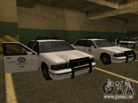 Police Original Cruiser v.4 pour GTA San Andreas sur la vue arrière gauche