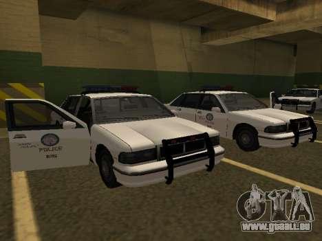 Police Original Cruiser v.4 für GTA San Andreas zurück linke Ansicht