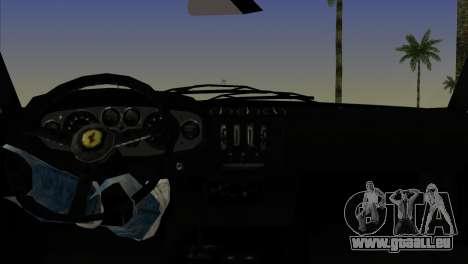 Ferrari 365 GTB pour GTA Vice City sur la vue arrière gauche