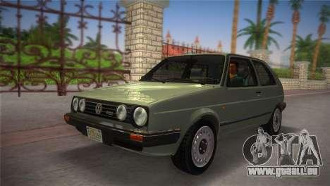 Volkswagen Golf II 1991 pour une vue GTA Vice City de la droite