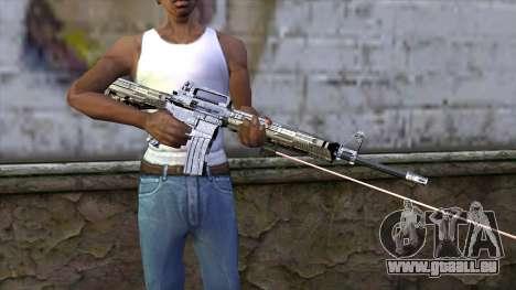 M4A1 mit laser-Augen für GTA San Andreas dritten Screenshot
