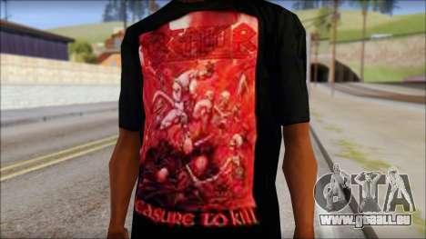 Kreator Shirt pour GTA San Andreas troisième écran