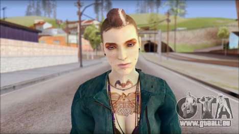 Clara Lille From Watch Dogs für GTA San Andreas dritten Screenshot