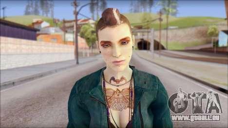 Clara Lille From Watch Dogs für GTA San Andreas dritten Screenshot