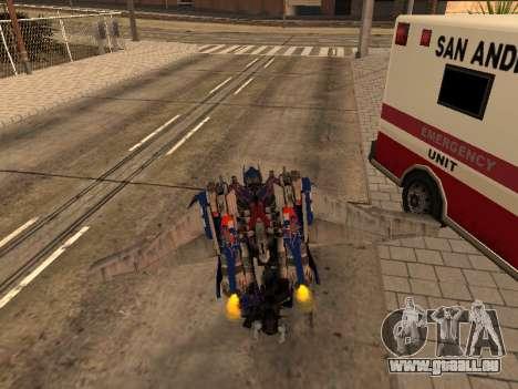 Optimus Jetpack pour GTA San Andreas sixième écran