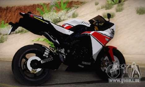Yamaha R1 2011 pour GTA San Andreas laissé vue
