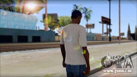 Skull Butterfly T-Shirt pour GTA San Andreas deuxième écran
