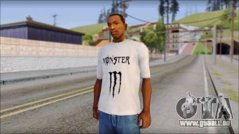 Monster Black And White T-Shirt für GTA San Andreas