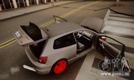 Honda Civic TypeR für GTA San Andreas Innenansicht