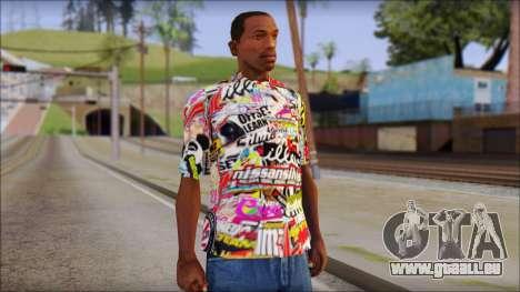 Sticker Bomb T-Shirt für GTA San Andreas