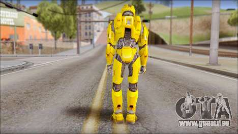 Masterchief Yellow from Halo für GTA San Andreas zweiten Screenshot