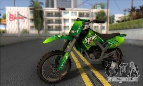 Sanchez From GTA V pour GTA San Andreas sur la vue arrière gauche