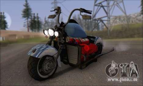 Boss Hoss v8 8200cc pour GTA San Andreas laissé vue
