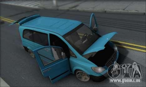 Mercedes-Benz 115 CDI Vito 2007 Stance pour GTA San Andreas vue de côté