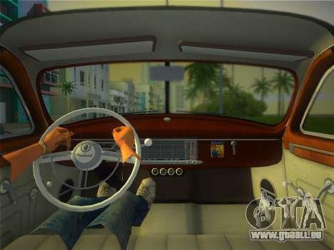 Packard Standard Eight Touring Sedan 1948 für GTA Vice City Innenansicht