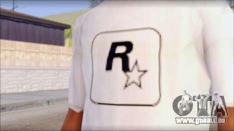 Rockstar Games White T-Shirt pour GTA San Andreas troisième écran