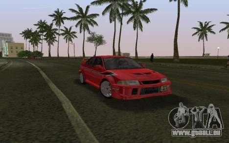 Mitsubishi Lancer Evolution 6 Tommy Makinen Edit pour GTA Vice City