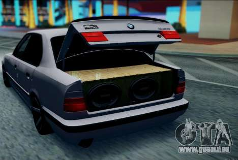 BMW 520i E34 pour GTA San Andreas laissé vue