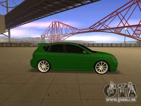 Mazda 3 pour GTA San Andreas laissé vue