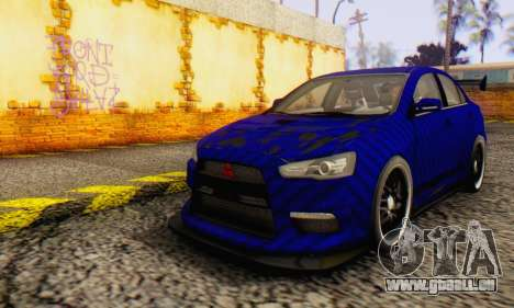 Mitsubishi Lancer EVO X Carbon Coloured für GTA San Andreas linke Ansicht