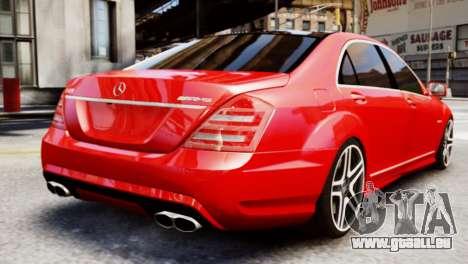 Mercedes-Benz S65 W221 AMG v1.3 pour GTA 4 est une gauche