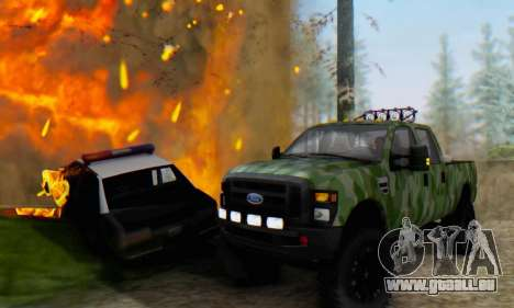 Ford F-250 Camo Lifted 2010 pour GTA San Andreas vue arrière