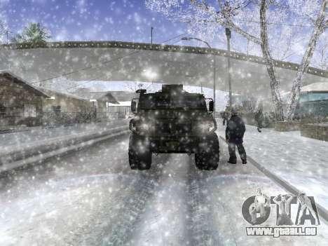 GAZ 2975 Tigre pour GTA San Andreas sur la vue arrière gauche