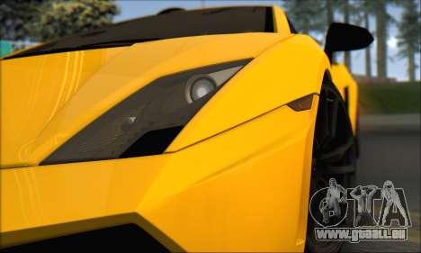 Lamborghini Gallardo LP570 Superleggera für GTA San Andreas Innenansicht