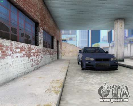Nissan Skyline R34 Fast and Furious 4 pour GTA San Andreas vue intérieure