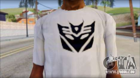 Decepticon T-Shirt für GTA San Andreas dritten Screenshot