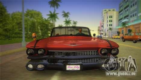 Cadillac Eldorado pour GTA Vice City vue arrière