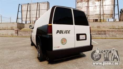 Vapid Speedo Los Santos Police [ELS] pour GTA 4 Vue arrière de la gauche
