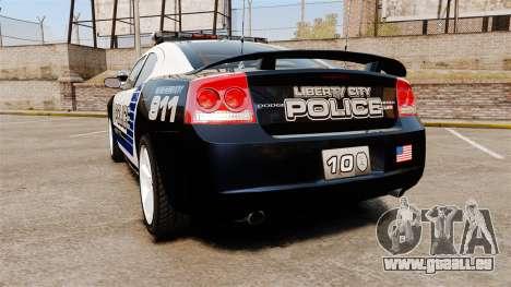 Dodge Charger SRT8 2010 [ELS] pour GTA 4 Vue arrière de la gauche
