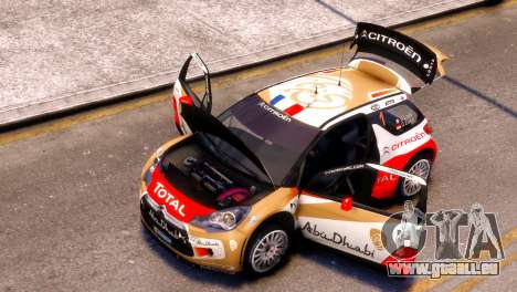 Citroen DS3 WRC pour GTA 4 Vue arrière de la gauche