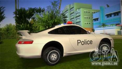 Porsche 911 GT3 Police pour une vue GTA Vice City de la gauche