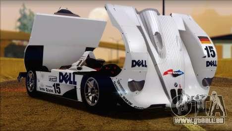 BMW 14 LMR 1999 für GTA San Andreas rechten Ansicht
