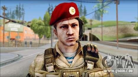 Desert Vlad GRU from Soldier Front 2 pour GTA San Andreas troisième écran