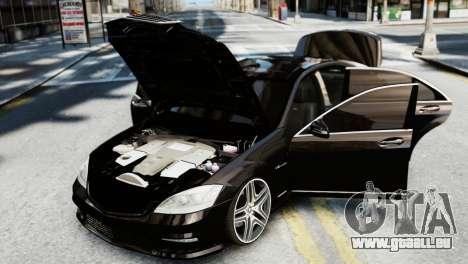 Mercedes-Benz S65 W221 AMG v1.3 pour GTA 4 Vue arrière
