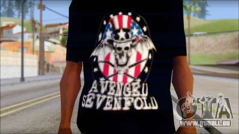 A7X Love It Or Die Fan T-Shirt pour GTA San Andreas troisième écran